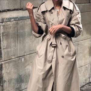Christian Dior | Vintage Womens Camel Trench Coat